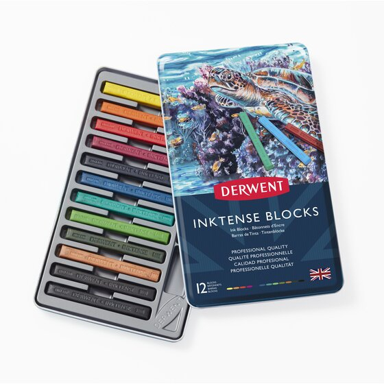 DERWENT INKTENSE BLOCKS TIN 12