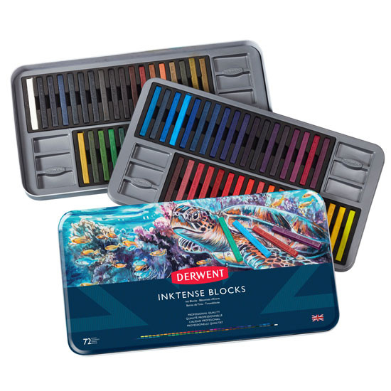 DERWENT INKTENSE BLOCKS TIN 72