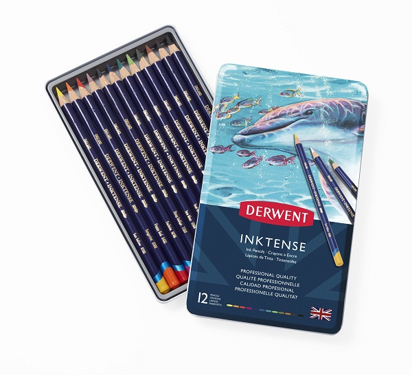 DERWENT INKTENSE PENCIL TIN 12