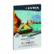 LYRA AQUACOLOR WATERCOLOUR WAX CRAYONS 12 TIN