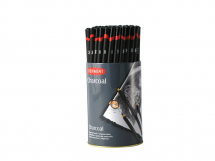 DERWENT CHARCOAL PENCILS 72 DISPLAY TUB
