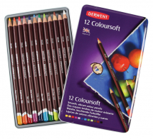 DERWENT COLOURSOFT PENCIL 12 TIN