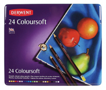 DERWENT COLOURSOFT PENCIL 24 TIN