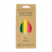BLUE ACORN WATERSOLUBLE PENCIL 12 ASSORTED