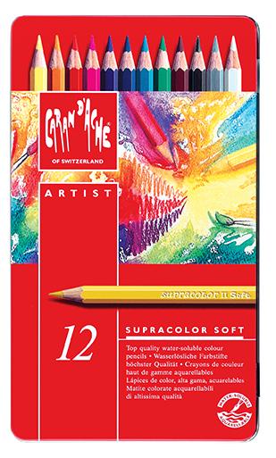 CARAN D'ACHE SUPRACOLOR SOFT AQUA 12 PENCILS