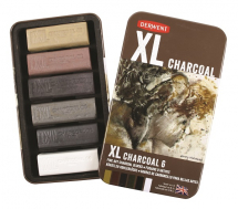 DERWENT XL CHARCOAL BLOCKS 6 ASSORTED COLOURS TIN