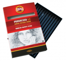 PROGRESSO GRAPHITE PENCILS 8B BOX OF 12