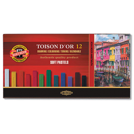 KOH-I-NOOR TOISON D'OR 12 SOFT PASTELS SET