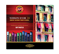 KOH-I-NOOR TOISON D'OR 24 SOFT PASTELS SET