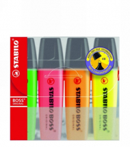 STABILO HIGHLIGHTER SET OF 4