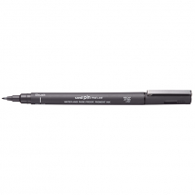 UNI PIN BRUSH DRAWING PEN DARK GREY
