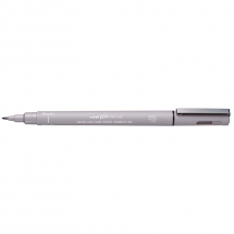 UNI PIN BRUSH DRAWING PEN LIGHT GREY