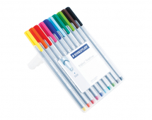 STAEDTLER TRIPLUS FINELINER 10 COLOUR SET