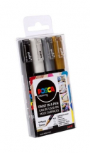 POSCA MARKERS PC-1M 4PC MONO PACK