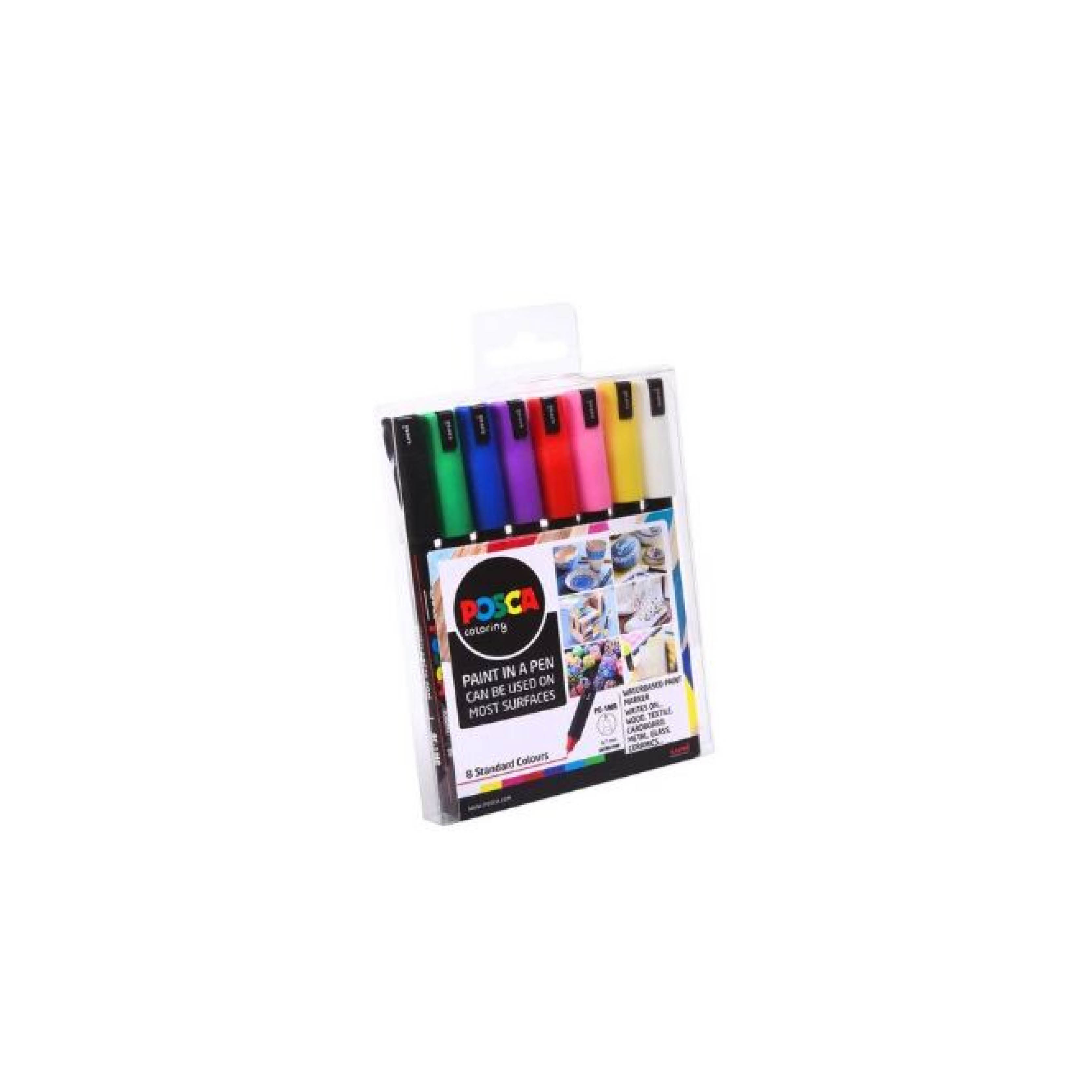 POSCA MARKERS PC-1MR 8PC STARTER PACK