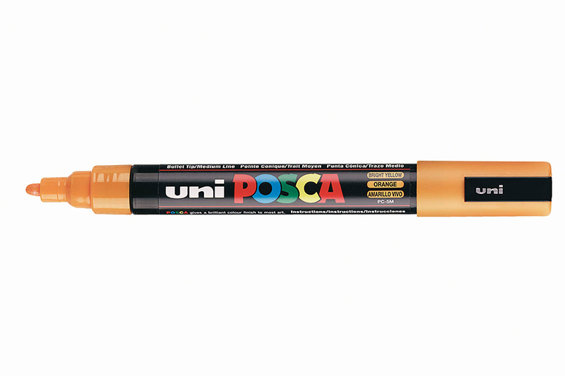POSCA MARKERS PC-5M BRIGHT YELLOW
