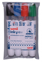 INKVIEW PWB-202 4 WHITEBOARD MARKER ASSORTED PACK