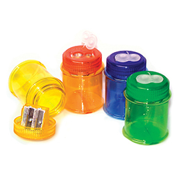 KUM TWO HOLE PENCIL SHARPENER + CONTAINER TUB - 430M2 (MAXI)