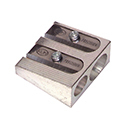 DOUBLE HOLE METAL PENCIL SHARPENER PACK OF 12