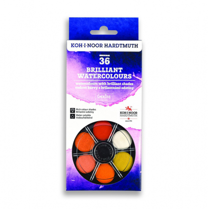 KOH-I-NOOR ANILINKY 36 COLOUR BRILLIANT WATERCOLOUR SET