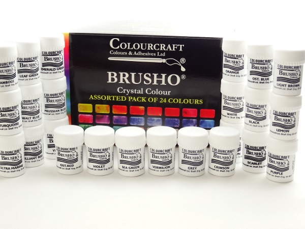 BRUSHO ASSORTED PACK OF 24 COLOURS