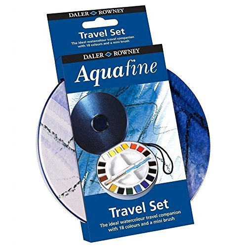 DR AQUAFINE TRAVEL SET 18 HALF PANS & MINI BRUSH