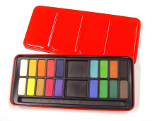 RED WATERCOLOUR TIN 18 WHOLE PANS