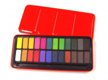 RED WATERCOLOUR TIN 24 WHOLE PANS