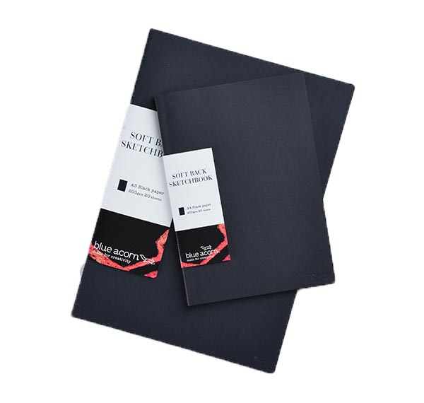 Softback Sewn Black Paper Sketchbooks